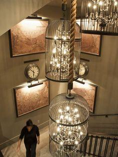 Strung Cage Lights Room Decor