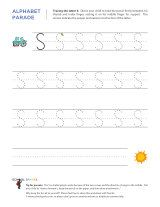 Uppercase S letter tracing worksheet, with easy-to-follow arrows showing the proper formation of the letter.