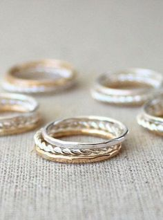 Unique Bridesmaids Gifts Stacking Rings