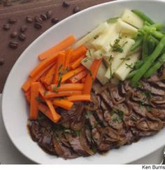 Coffee Braised pot roast.  I am curious to see how the coffee tenderizes the meat, considering coke does, coffee would, right?