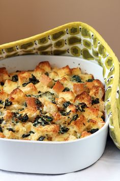 Spinach Cheese Breakfast Strata