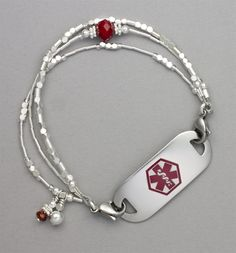 Cherry Drop Medical ID Bracelet #laurenshope