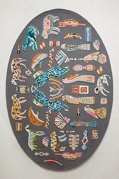 Zoology Oval Rug - anthropologie #wishlist