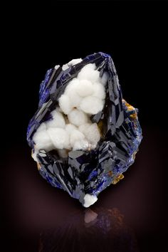 "Smithsonite-Azurite, ""Bird's Nest""  Touissit Mine, Morocco  41mm  Jeff Starr Collection"