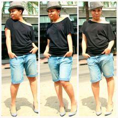 My DIY Denim Boyfriend Shorts...
