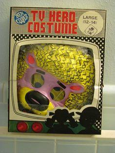 Vintage 1971 Hair Bear Halloween Costume + Mask Ben Cooper Boxed | eBay