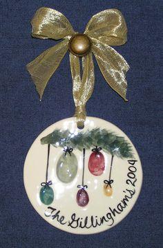 Thumbprint Family Ornament -- Cute!