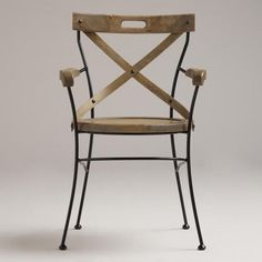 One of my favorite discoveries at WorldMarket.com: Campaign Chair $129.99 AO