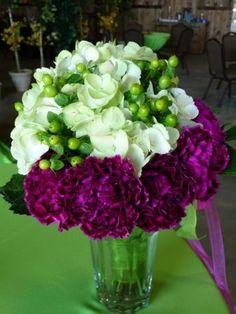 Eggplant Wedding Flowers 60th Wedding Anniversary Flowers