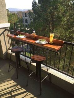 No space on your balcony? No problem! Turn your CLV Group balcony into a place where you can enjoy any meal!