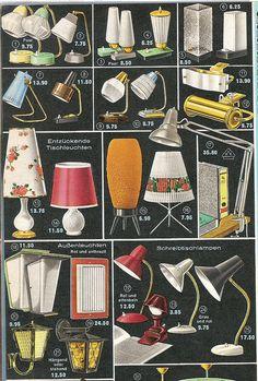 Lamps, 1963 Quelle catalog