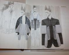 Fashion Sketchbook - architectural fashion design development; fashion illustrations; fashion portfolio // Ernesto Naranjo