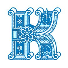 ron lewis, kiss, letter, monogram, number, type, typographi