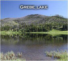 Hiking the Grebe Lake Trail in Yellowstone grebe lake, lake trail