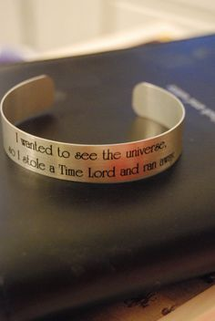 Doctor Who - Stole a Time Lord Bracelet on Etsy, $5.00