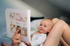 It's never too soon to start reading to our children~