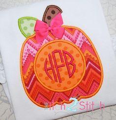 Pumpkin for Monogram Applique Fabric-HL