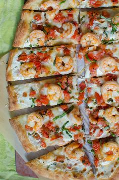 Shrimp Caprese Pizza -- making this tonight for supper.  I love all my garden fresh tomatoes and basil!  #dreadingwinter