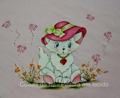 Coisas da Nil - Pintura em tecido: Miau...miau!!!!