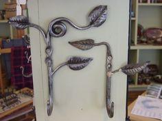 forged pair of leaf hooks
