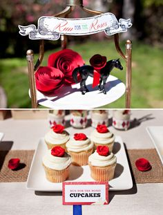run for the roses cupcakes