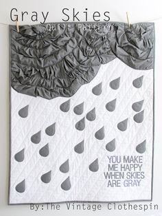 Gray Skies PDF Quilt Pattern. $9.50, via Etsy.    LOVE LOVE LOVE