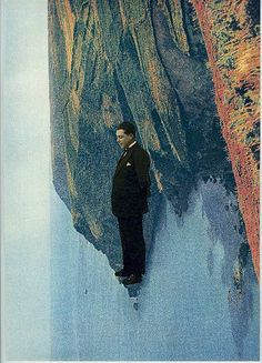 Maurice: On top of it all, collage, vintage photo