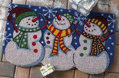 Snowmen Holiday Welcome Mat