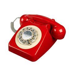 Classic Red British Phone   dotandbo.com
