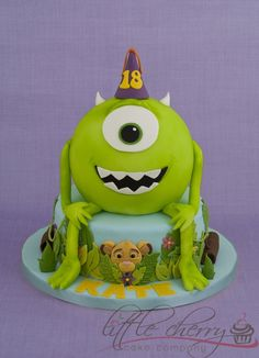 Mike Monsters Inc and Lion King Cake