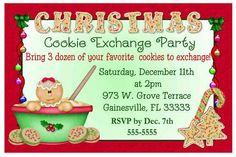 CHRISTMAS COOKIE EXCHANGE PARTY INVITATIONS #9C | eBay