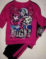 Monster High Girls Sweatsuit Two Piece Outfit NEW Size  7/8
