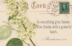 Lilac & Lavender: Postcards & Words of Inspiration ~ Thankful scripture