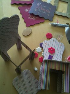 inspiration - easy to assemble furniture for dolls (Barbie sized)