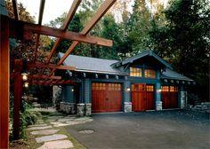 lake houses, bungalow garage, detached garage, carriage house garage, garage doors