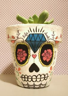 DIY Sugar Skull planter tutorial