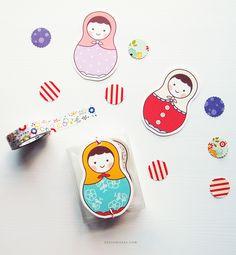 gift tags, matryoshka gift