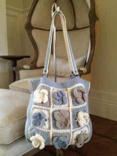 Blue Kahpalua Crochet purse