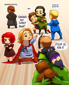 Baby Avengers never gets old...