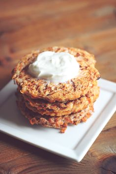 Sweet Potato Apple Fritters 2 Ways! Made savory and they are delicious!