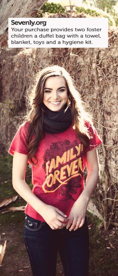 This Week's Sevenly -- When you grab this week's shirt, you'll be replacing a foster child's worn out trash bag, with a personalized duffle bag full of toys and blankets! ---> http://sevenly.org/pinforgood