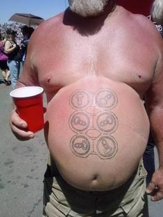 Nice 6-pack!! Hilarious. So there are still people out there that have a sense of humor :)