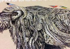 Extra detail of work // ● TUSK ● - Sandra Dieckmann   Illustration
