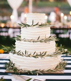 cake with greenery
