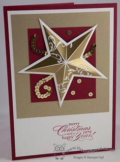 Christmas Star - Gold and Silver Single stamps, Christmas Star, Delightful Dozen, Joanne James, independent Stampin' Up! UK demonstrator, blog.thecraftyowl.co.uk