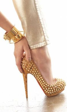 Christian Louboutin cork  | http://queenbee1924.tumblr.com/post/44379528285/louboutin