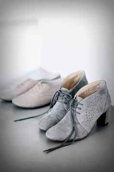 grey with laces.