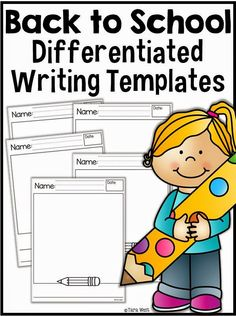 Differentiated writing templates FREEBIE