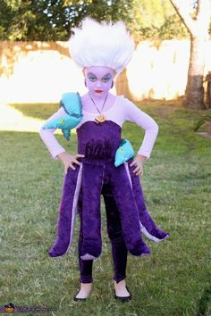 Ursula from The Little Mermaid #cute #costume #baby #kid #DIY #budgettravel #travel #halloween #budget www.budgettravel.com
