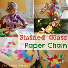 Stained Glass Paper Chain